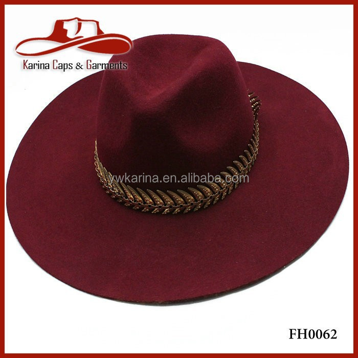 Triangle Dent Wool Felt Floppy Luxury Extra Large Wide Brim Fedora Hats 9f0697a4045