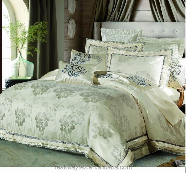 luxury embroidery jacquard duvet cover set new style