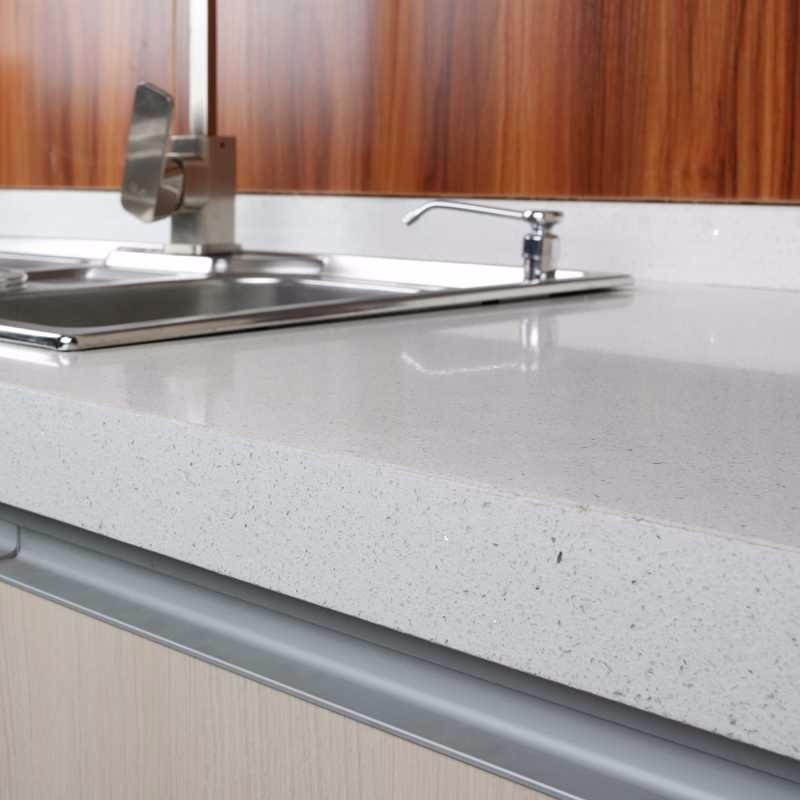 Cheap Sparkle Crystal White Faux Quartz Countertop Buy