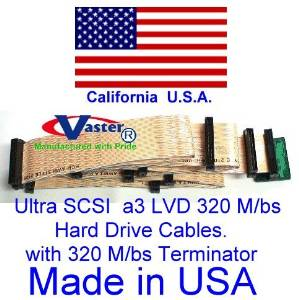 Ultra SCSI Ribbon 320 M/bs SCSI Ribbon Cable with 320 M/bs Terminator (8 Connector 7 Drive)