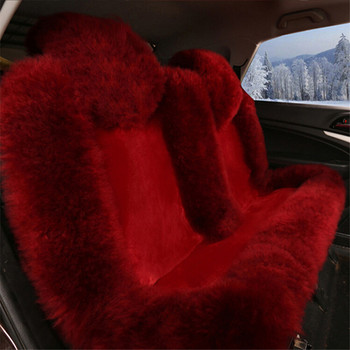 Wholesale Genuine Skin Red Wool Car Seat Covers Front Chair Mats Coach