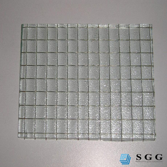 Nice design 6mm/6.5mm tempered wire glass specifications