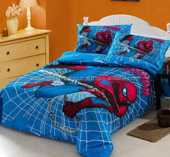 Hot Baby Bedding Quilt Cover Spiderman Cartoon Pattern