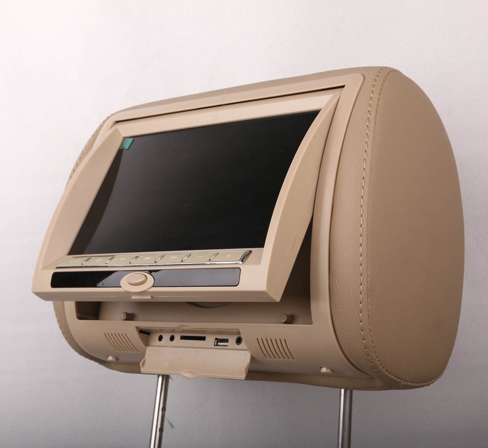 "7"" Headrest DVD Player + Pillow + Game/USD/USB Slot/ IR/FM Transmitter/ 2 speakers"