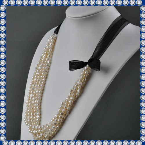 5-6mm nugget latest nice freswater pearl necklace