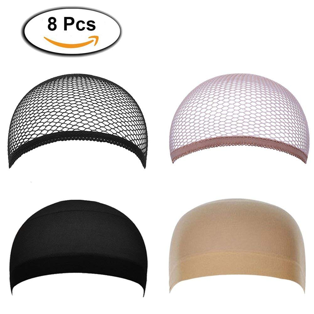 Get Quotations · Nylon Wig Caps Light Comfortable Elastic Bald Dome Wig Caps  Holder Stocking Caps in Bulk- 1345825b5a7