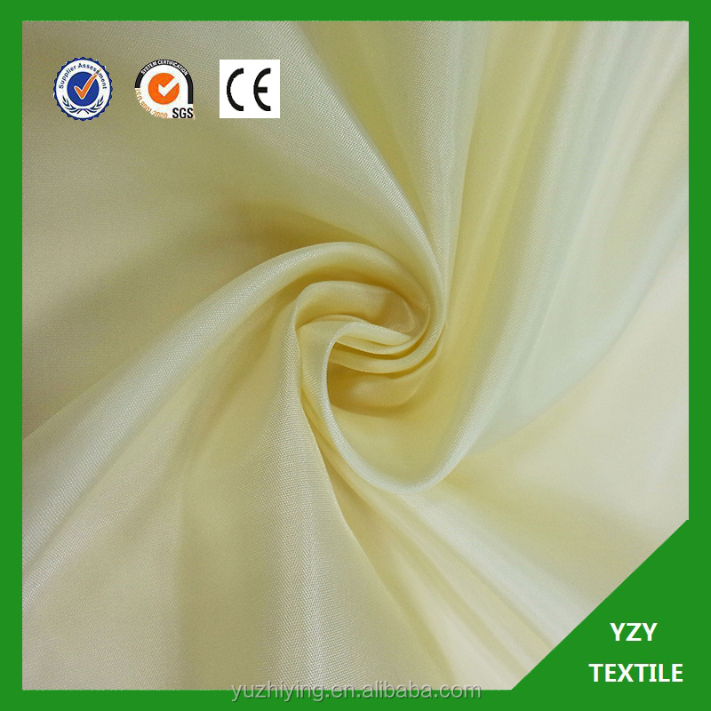 100% polyester taffeta colorful Woven Taffeta for Artificial Flower Fabric