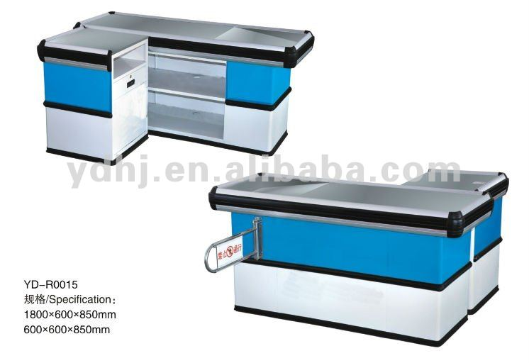 Supermarket&Shop Cashier Counter Tables Design from Suzhou Yuanda Business Equipment Co., Ltd