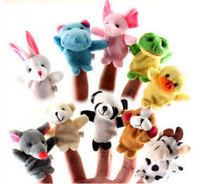 Finger double even feet animal hand puppet to tell your baby a good helper