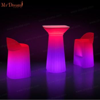Mr.Dream outdoor waterproof hotel lighting wedding decorative remote control led event furniture(accept customized)