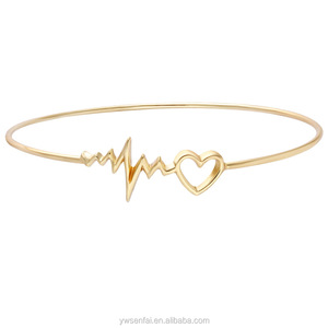 28119e2a25 Gold Heartbeat Bracelet, Gold Heartbeat Bracelet Suppliers and  Manufacturers at Alibaba.com