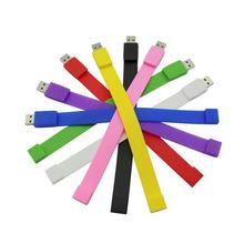 Charm Silicone Bracelet Men Wristband 32gb 8gb 4gb USB 3.0 USB Flash Drive Pen Drive 16gb Memory Stick U Disk Pendrive 64gb Gift