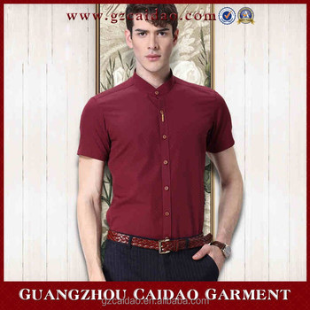 e5841e2289c04 Customized formal short sleeve mandarin collar shirt for men, View mandarin  collar shirt, CaiDao Product Details from Guangzhou Caidao Garment Co., ...