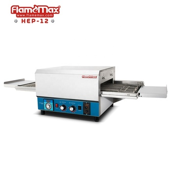 HEP-12 12 inch Commercial Stainless Steel Electric Rotary Belt Conveyor Pizza Oven