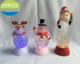 color changing snowman/deer led light with swirling glitter effect,glitter liquid christmas candle light,led xmas decoration