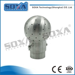 Beer Equipment Stainless Steel Static Bolted Fixed Spray Cleaning Ball