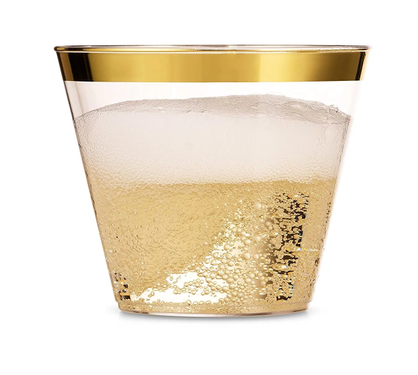 Rose Gold Rimmed Plastic <strong>Cups</strong> Disposable <strong>cups</strong>, wedding party facy disposable clear plastic <strong>cups</strong>