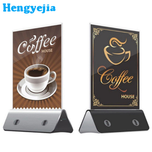 2018 trending products 10000mAh menu card holder public advertising power bank for restaurants/cafe/bar
