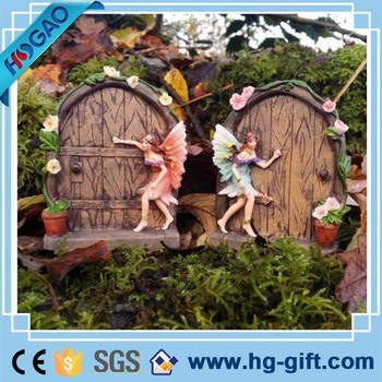 couple fairy garden miniatures figurines wholesale with a flower door - Fairy Garden Miniatures