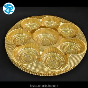 Round shape Mooncake blister packing tray plastic packaging trays for cake packaging