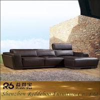 fashion style leather l shape sofa