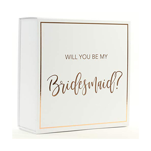 White Will You Be My Bridesmaid Proposal Box
