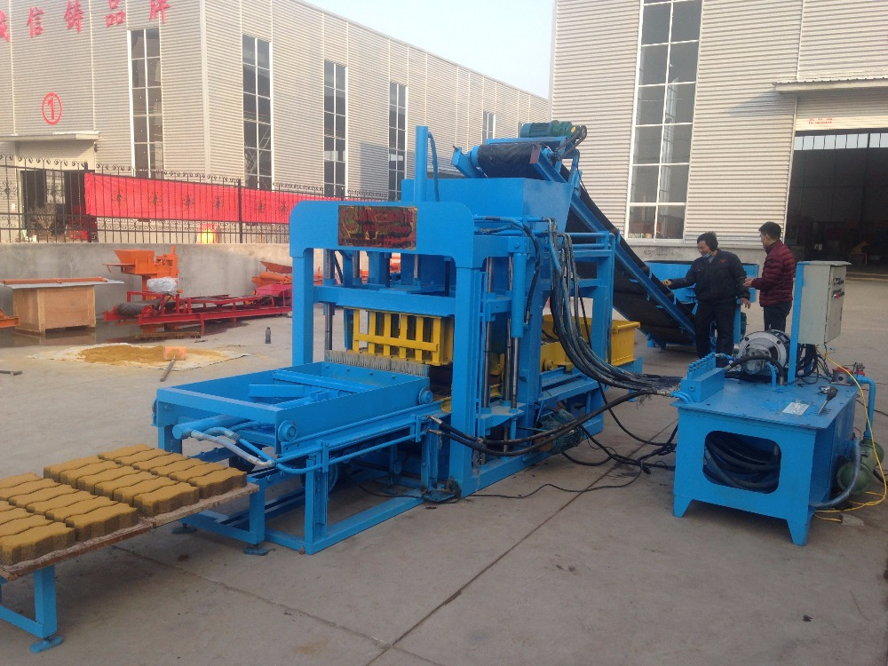 New technology Standard bricks molding QTJ4-25D fully automatic concrete block production line machine