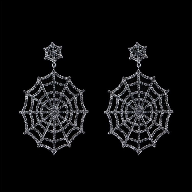 Cheap high-ranking spider web drop earring