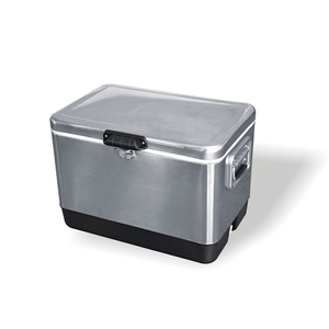 Retro metal picnic cooler beer steel storage ice box with long time cool  keeping