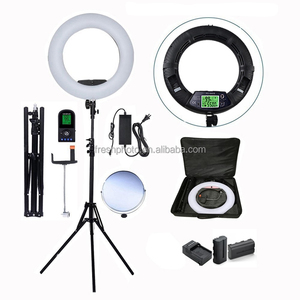 18 Inch Wireless LED Video Beauty Ring Light,Makeup Photo Studio Light With Diva Light Mirror
