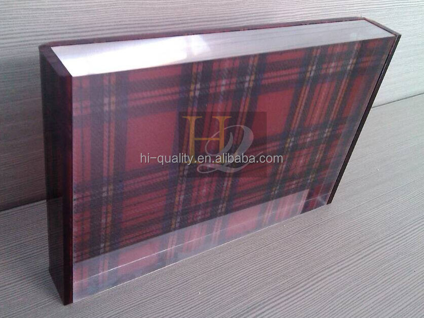 Top quality clear photo picture frame acrylic ,custom clear acrylic photo block for desktops