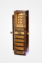 Elm real wooden wardrobe with watch& jewelry