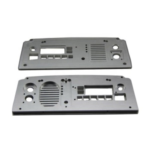 high precision anodized cnc machined custom aluminum faceplate for amplifier