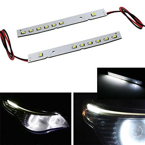iJDMTOY HID Matching Xenon White LED Eyelid Eyebrow Modules For 2008-2010 BMW E60 LCI 5 Series 528i 535i 550i M5