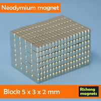 Permanent Type and Block Shape Neodynium Magnets 5x3x2mm neodymium magnets n48