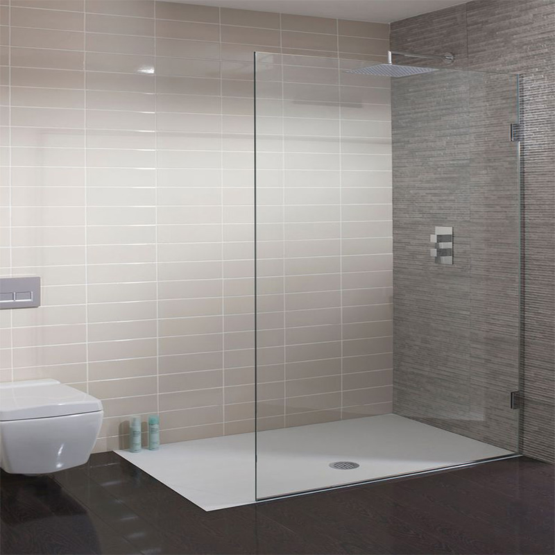 4 Sided Shower Enclosures With White Painted Aluminum Frame - Buy ...