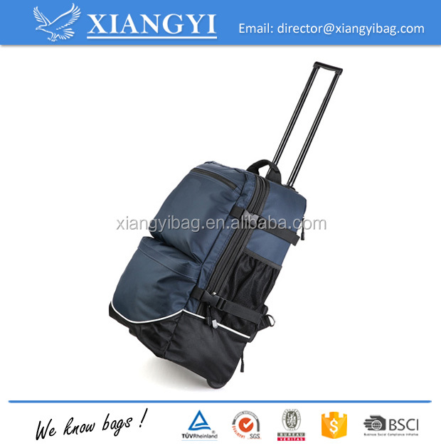 Hot wholesale travel trolley backpack easy carry luggage for flight