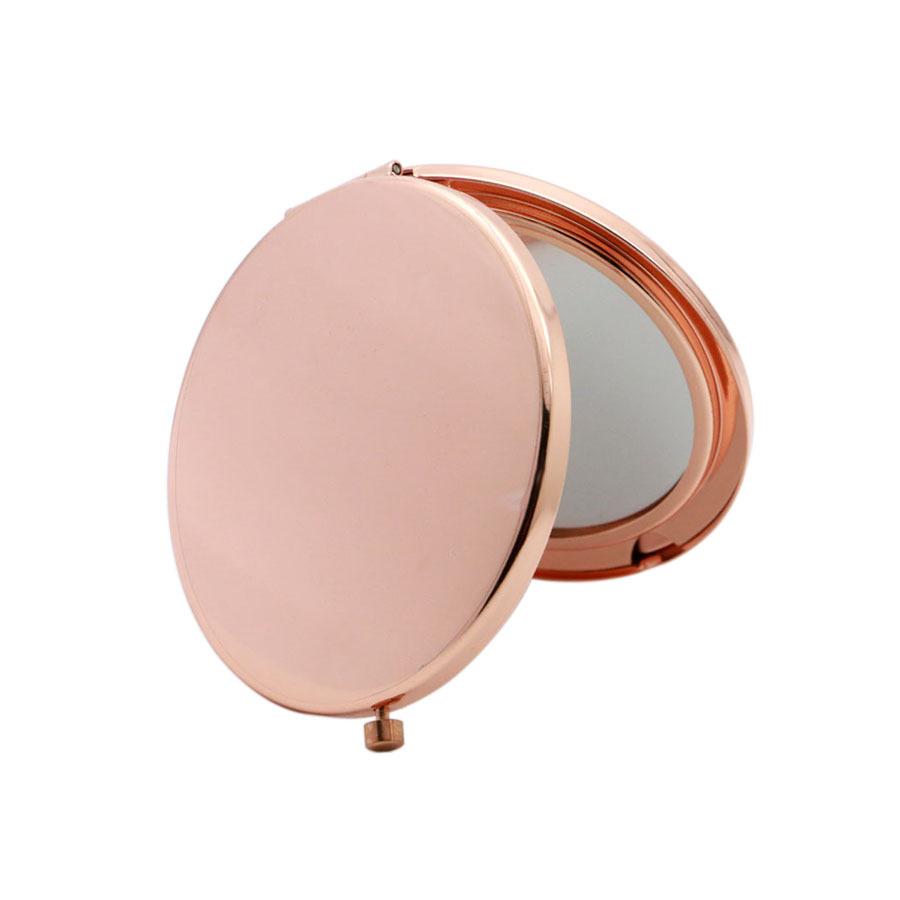 Custom logo printing laser logo fashion pocket make up mirror custom luxury compact mirror with logo, Rose gold;silver;purple;blue ......