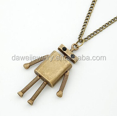 Old style fashion robot necklace in USA