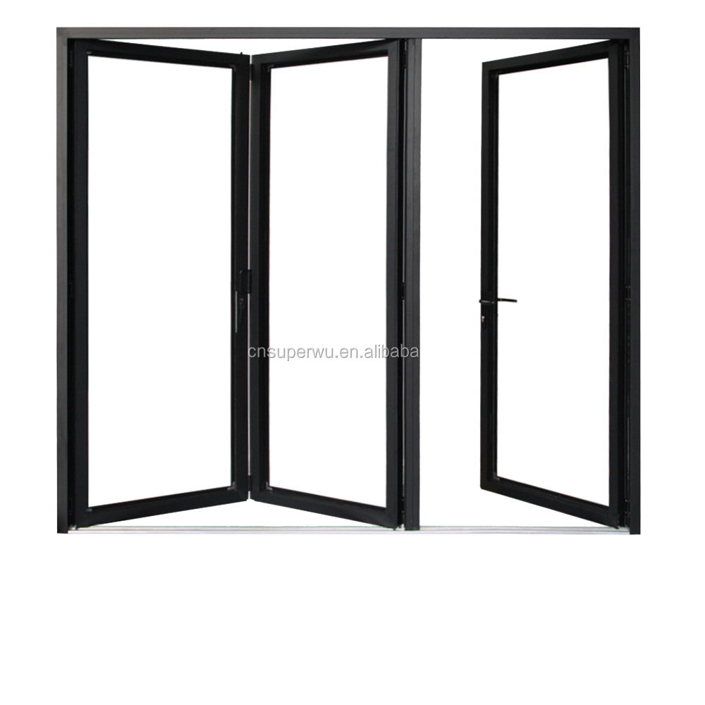 AS2047 standard exterior aluminium glass folding doors for meeting room