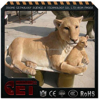 Fiberglass animal life size in sculpture lion model for sale