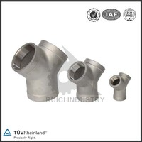 OEM Y tee 316 stainless steel pipe fitting