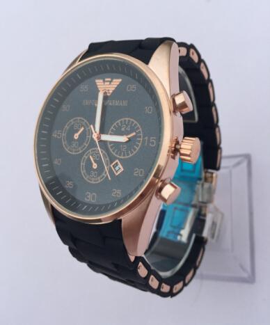 Бесплатная доставка новый бренд AR5905 AR5890 мода роскошь розовое золото часы 5905 5890 мужские AR5905 хронограф наручные часы