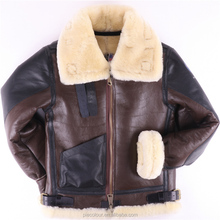 B3 Leather jacket shearling The most warm Polar Coat pilot World II Flying US Force Bomber Fur aviation air military Men Women