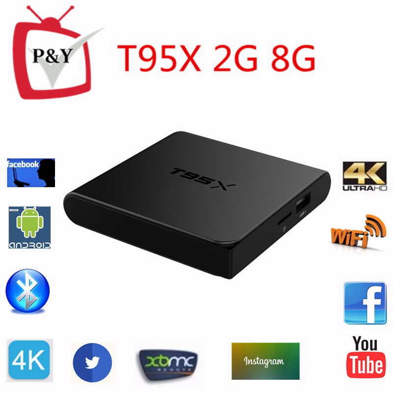 Ricevitore satellitare digitale stella amlogic T95x S905x 2g 8g Quad core android 6.0 tv box Kodi16.1