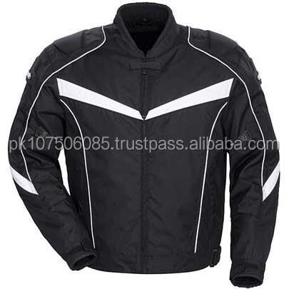 Motorbike Motorcycle Cordura Textile Jacket CE Approved Armours Black