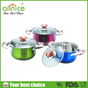 Color coating Africa Styple 3pcs set soup pot / stockpot / casserole set
