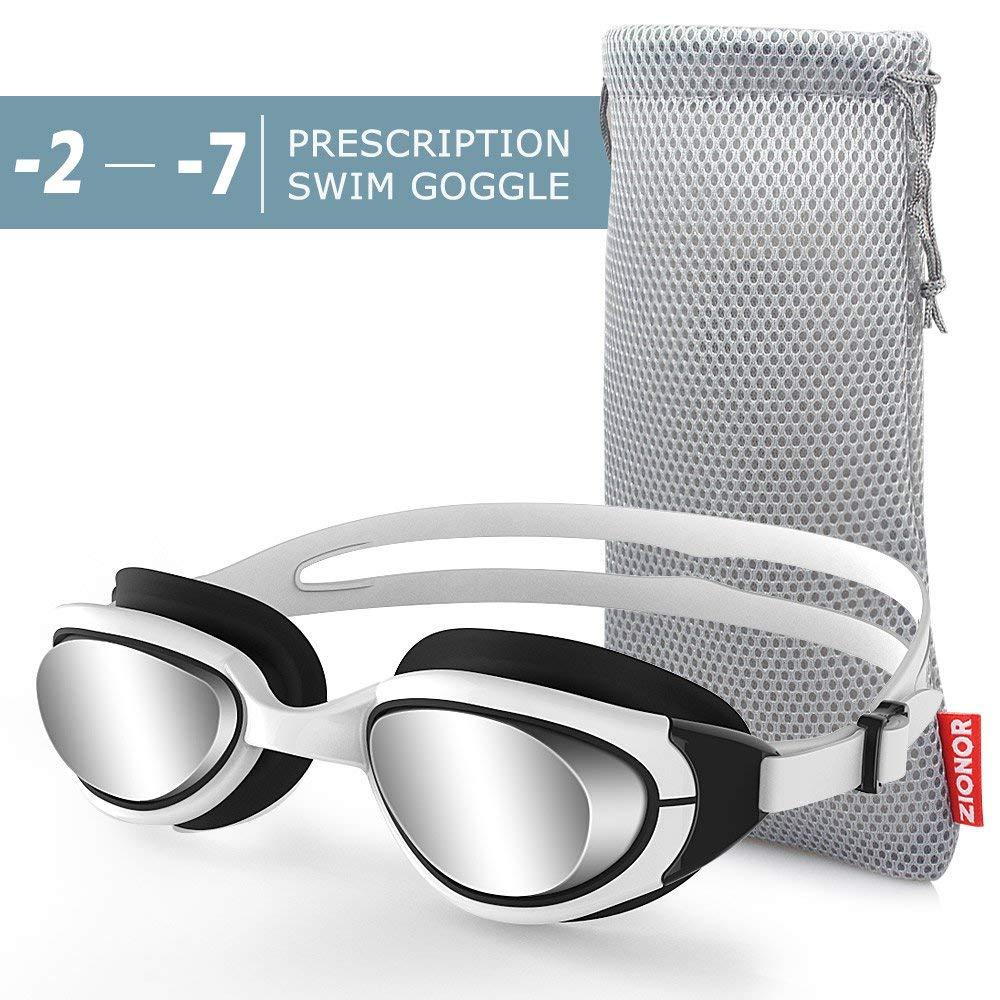 e66293d8ba Get Quotations · Zionor RX Prescription Swim Goggles