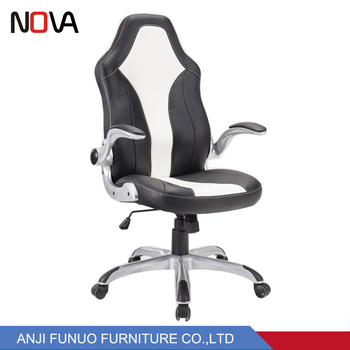 Outstanding Nova Office Adjustable Armrest Black And White Leather Comfort Racing Staff Chair Reception Waiting Room Office Chairs View High Back Pu Leather Caraccident5 Cool Chair Designs And Ideas Caraccident5Info