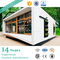 Prefab 20ft plant wall cladding modern sea container plastic food storage house store